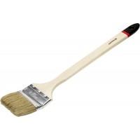 """Кисть STAYER """"MASTER"""" """"Универсал"""" радиаторная для всех видов ЛКМ, светлая натуральная щетина, деревянная ручка, 3""""/75мм 0112-75_z01"""