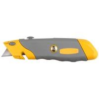 """Нож STAYER """"PROFI"""" металлический корпус, с выдвижным трапециевидным лезвием, 5 запасных лезвий 09233"""