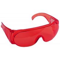 """Очки STAYER """"STANDARD"""" защитные, поликарбонатная монолинза с боковой вентиляцией, красные 11045"""