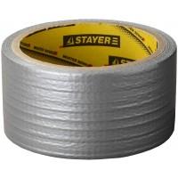Армированная лента, STAYER 12080-50-10, универсальная, влагостойкая, 48мм х 10м, серебристая 12080-50-10