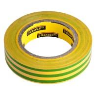 """Изолента STAYER """"PROFI"""" желто-зеленая, ПВХ, 15мм х 10м х 0,18мм 12292-S-15-10"""