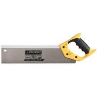 Ножовка для стусла c усиленным обушком (пила) STAYER 350 мм, 12 TPI, прямой зуб, для точного реза 15365-35
