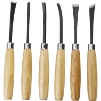Набор STAYER: Резцы фигурные, с деревянной ручкой, 6шт 1832-H6