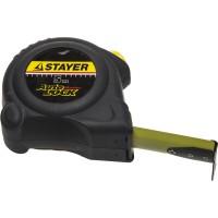 """Рулетка STAYER """"MASTER"""" """"AUTOLOCK"""", корпус с резиновым напылением, автостоп, 5мх25мм 2-34126-05-25_z01"""