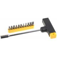 Набор STAYER Отвертка с Т-образной ручкой с битами, 12 предметов 2540-H12