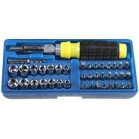 Набор STAYER Отвертка реверсивная с торцовыми головками и битами, 41 предмет 2555-H41