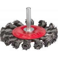 """STAYER """"PROFESSIONAL"""". Щетка дисковая для дрели, жгутированная стальная проволока 0,5мм, 75мм 35115-075_z01"""
