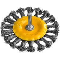 """STAYER """"PROFESSIONAL"""". Щетка дисковая для дрели, жгутированная стальная проволока 0,5мм, 100мм 35115-100"""