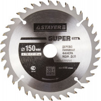 "Диск пильный STAYER MASTER ""SUPER-Line"" по дереву, 150х20мм, 36Т 3682-150-20-36"