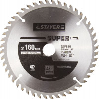 "Диск пильный STAYER MASTER ""SUPER-Line"" по дереву, 160х20мм, 48Т 3682-160-20-48"