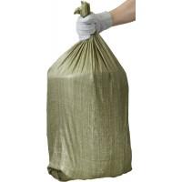 """Мешки полипропиленовые STAYER """"MASTER"""", хозяйственные, зеленые, 105х55 см, 80л (40 кг), 10шт 39158-105"""