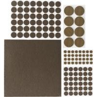 """Набор STAYER """"COMFORT"""": Накладки самоклеящиеся на мебельные ножки, 125 шт, коричневые 40916-H125"""
