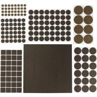 """Набор STAYER """"COMFORT"""": Накладки самоклеящиеся на мебельные ножки, 175 шт, коричневые 40916-H175"""