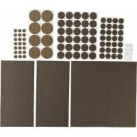 """Набор STAYER """"COMFORT"""": Накладки самоклеящиеся на мебельные ножки, 98 шт, коричневые 40916-H98"""